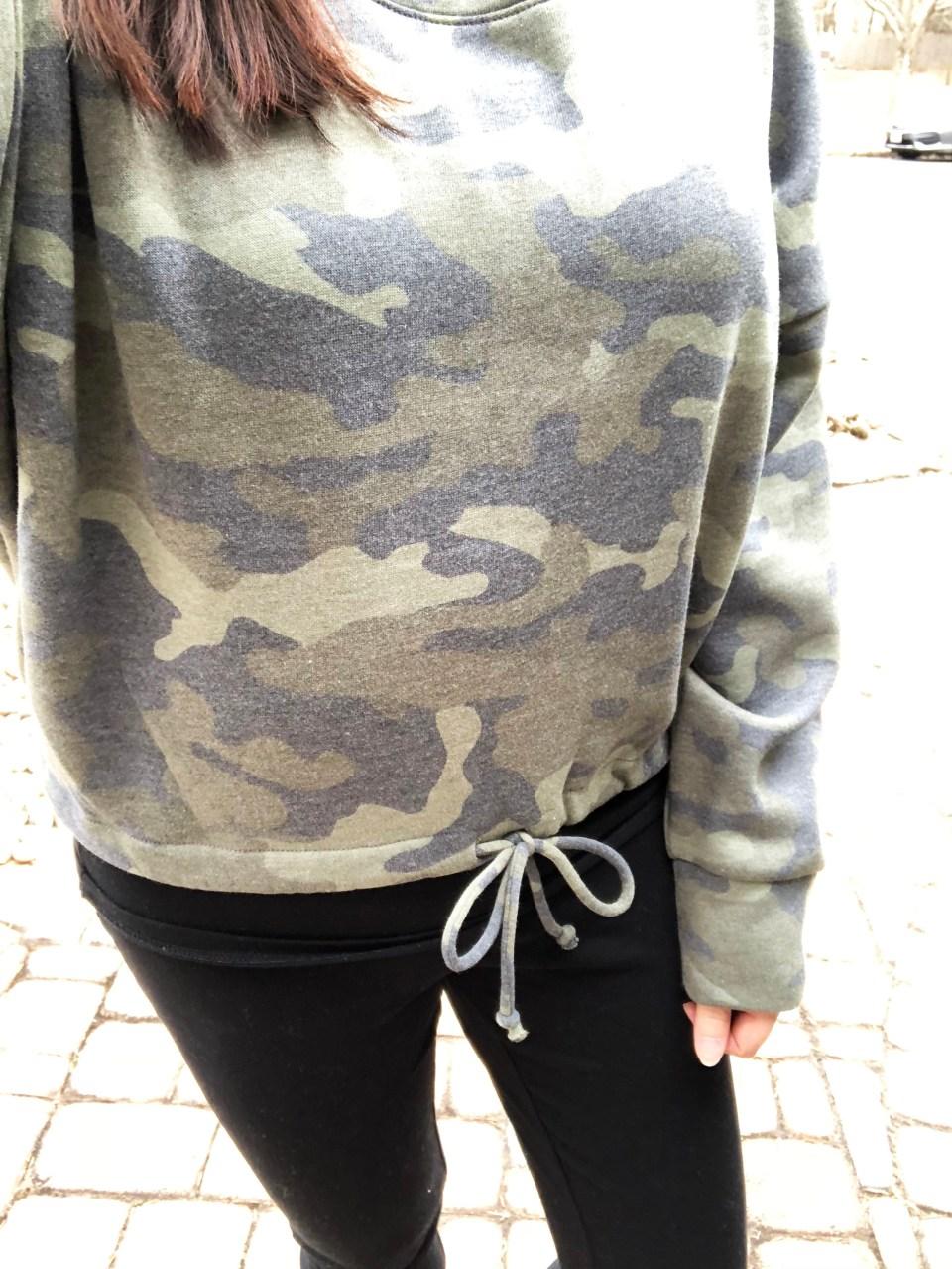 Camo Drawstring Sweatshirt 9