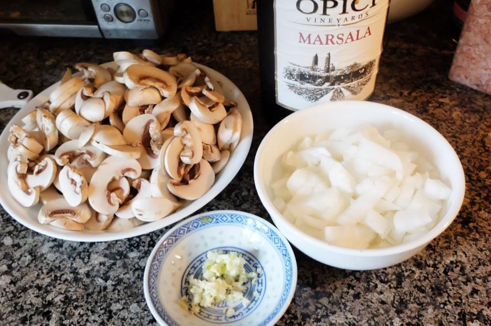 Chicken Marsala Ragout Ingredients