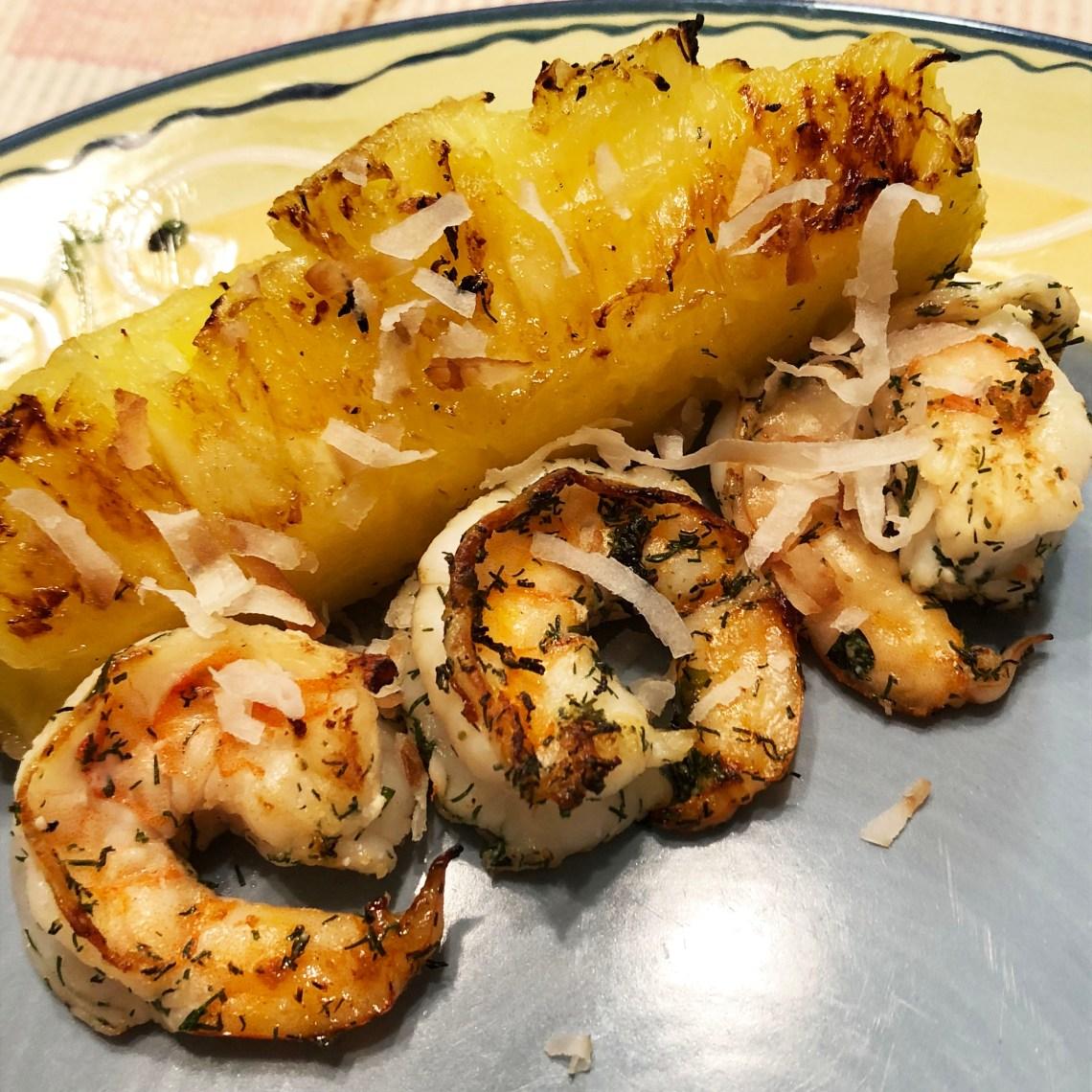 Grilled Shrimp & Pineapple