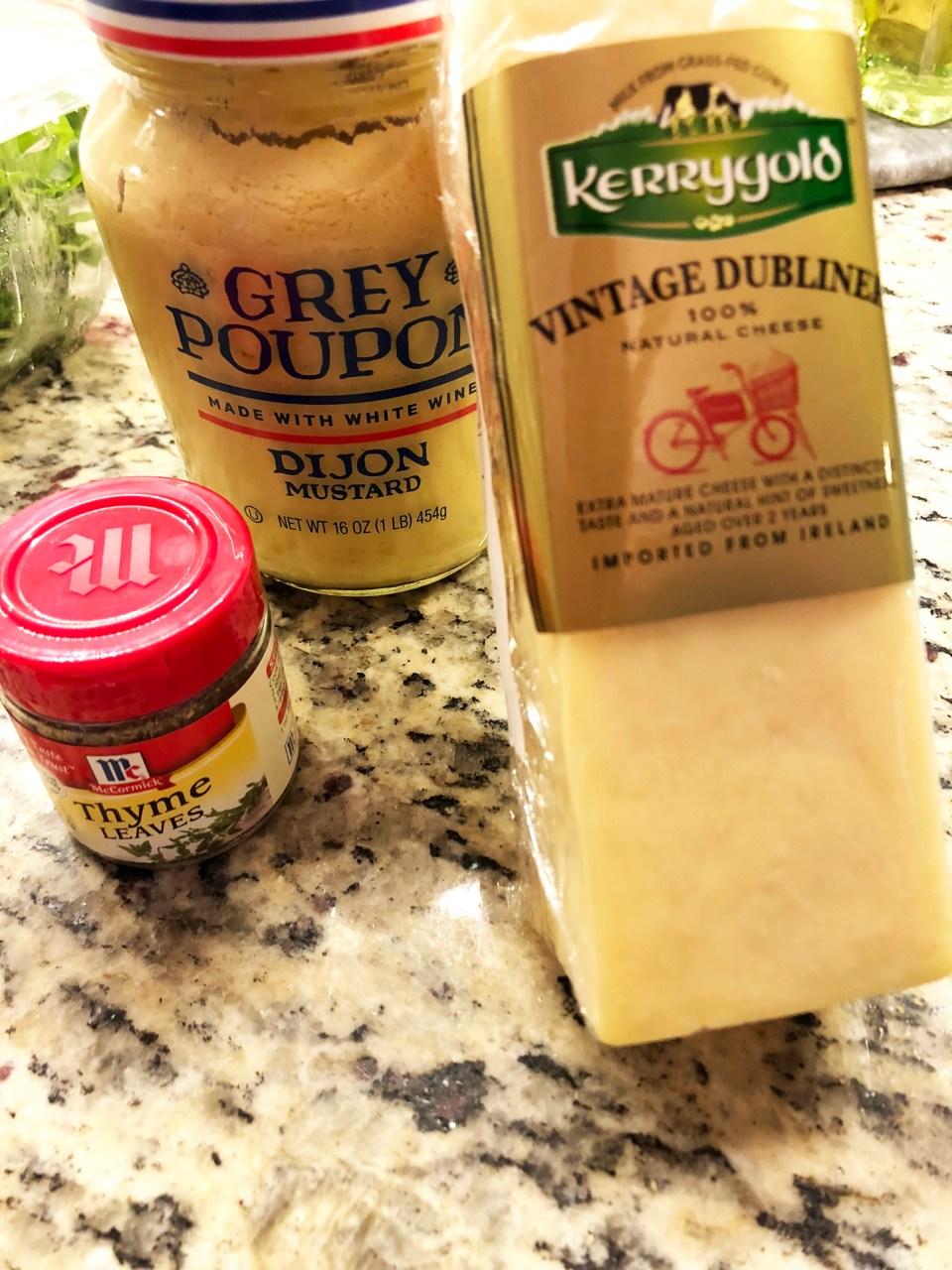 Irish Cheese Toastie - ingredients
