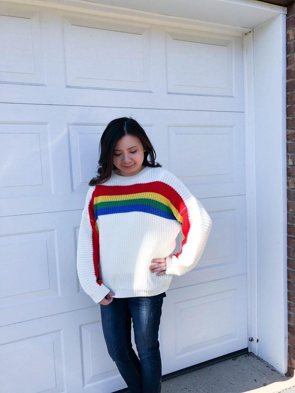 Rainbow Stripe Sweater 1