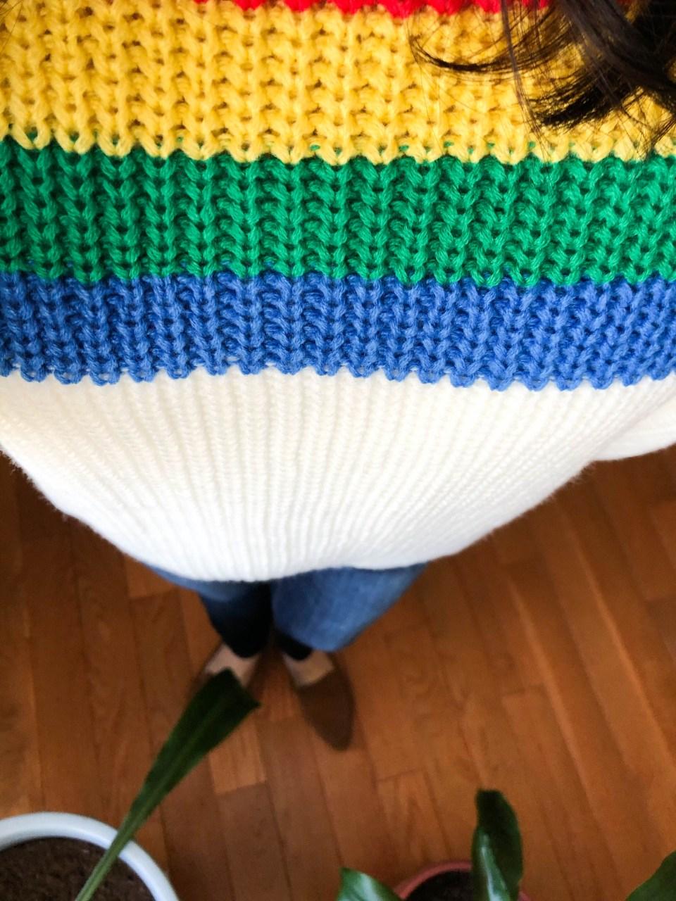 Rainbow Stripe Sweater 10
