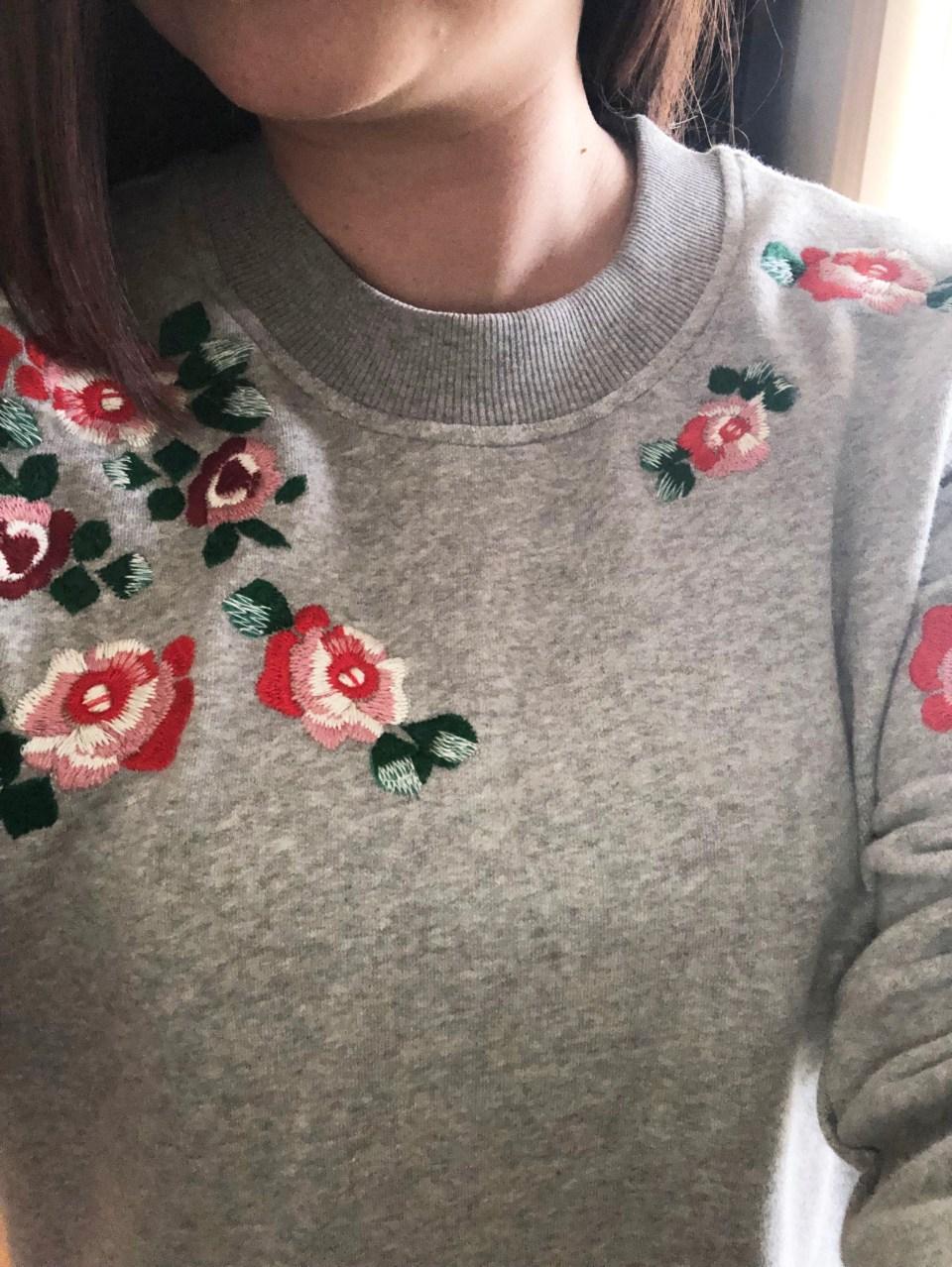 Floral Embroidered Sweatshirt 14