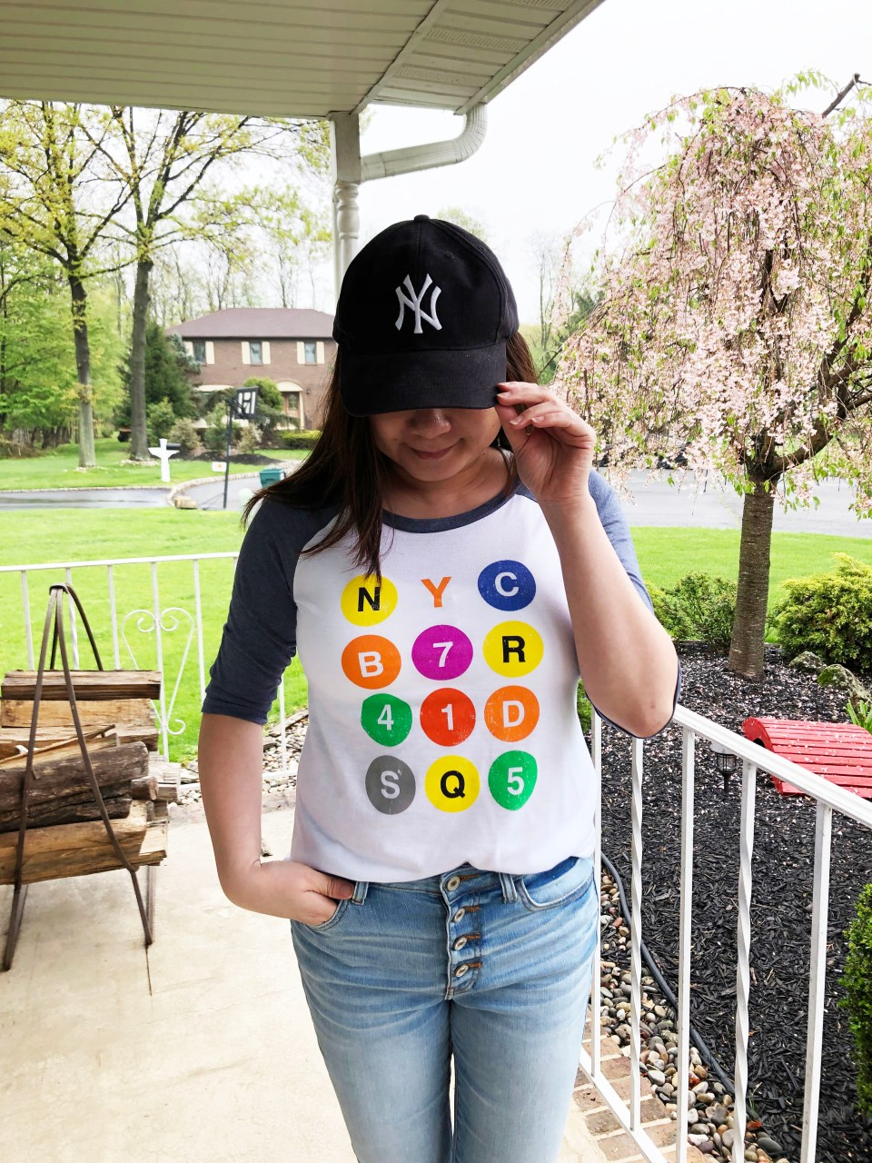 NYC Graphic Baseball Tee 9