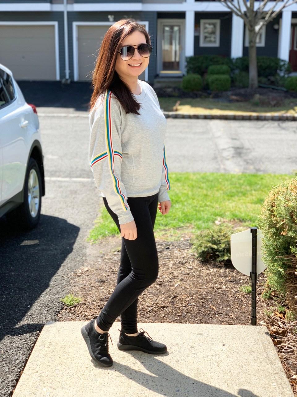 Rainbow Varsity Stripe Top 1