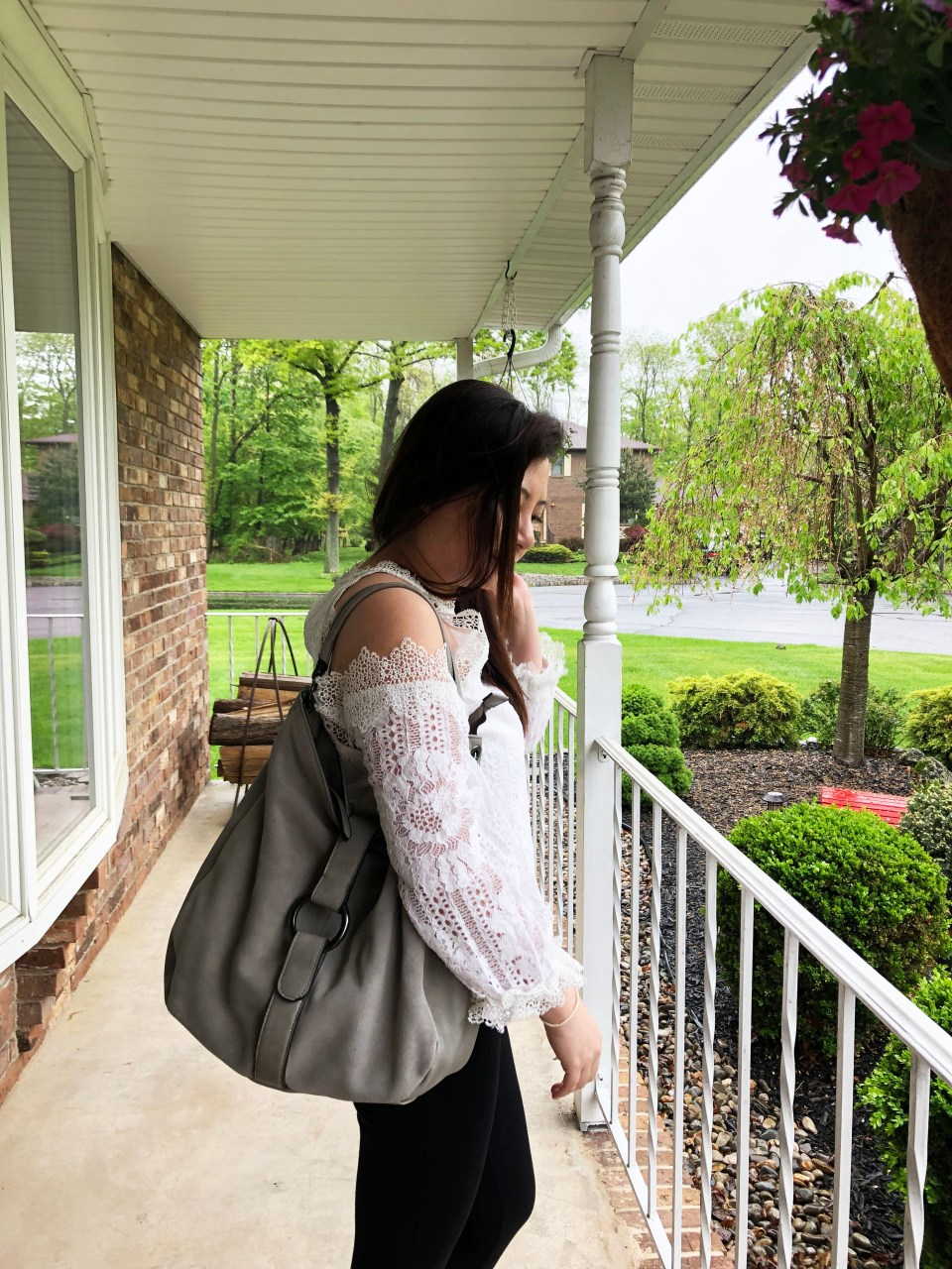 Grey Boho Satchel 11