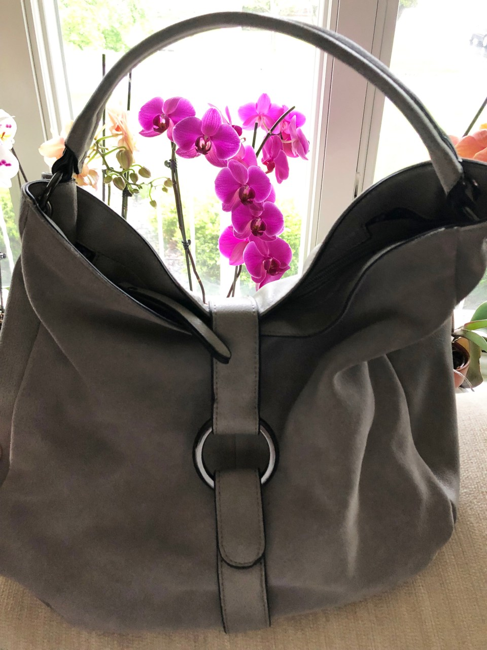 Grey Boho Satchel 14