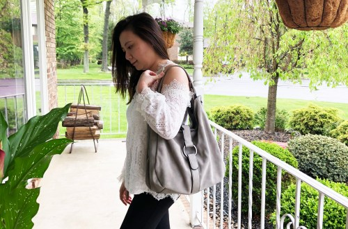 Grey Boho Satchel
