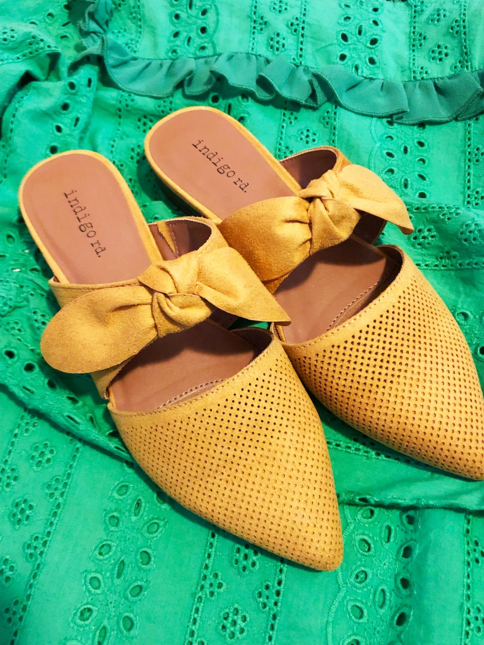 Mustard Yellow Mules