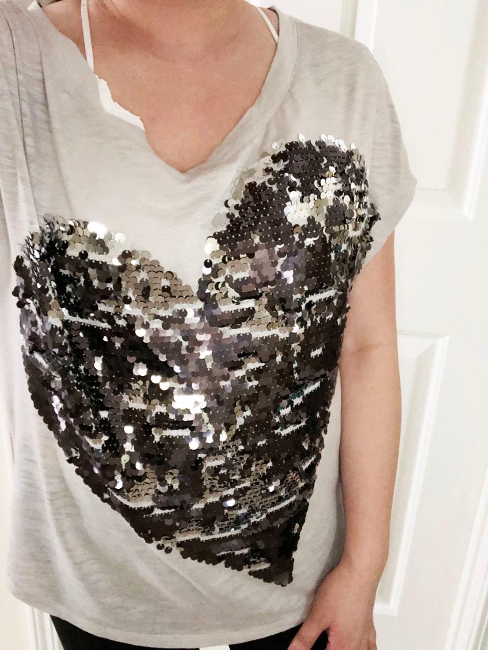 Sequin Heart Tee 5