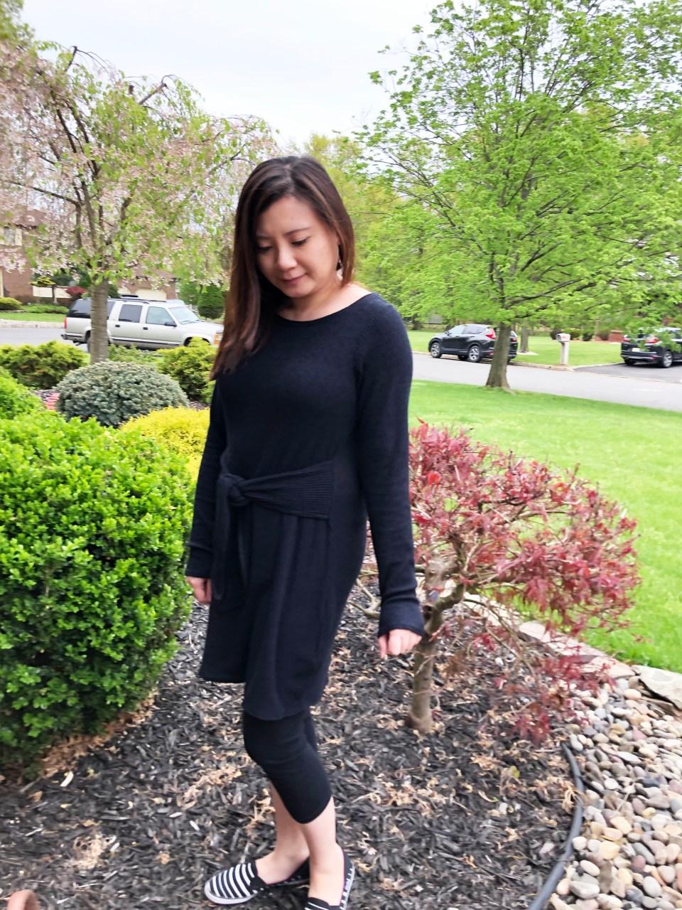 Tie Front Sweater Dress 1