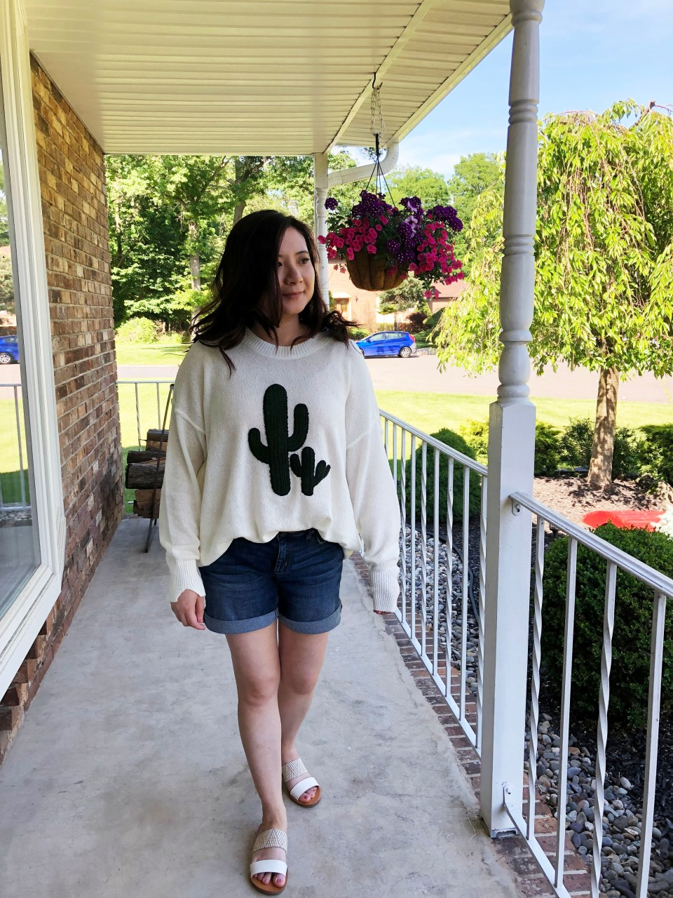 Embroidered Cactus Patch Sweater 10