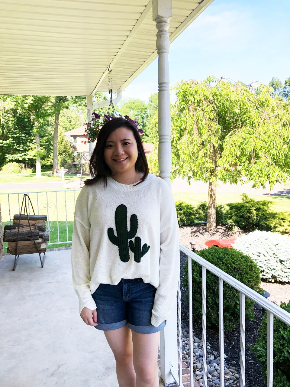 Embroidered Cactus Patch Sweater 6