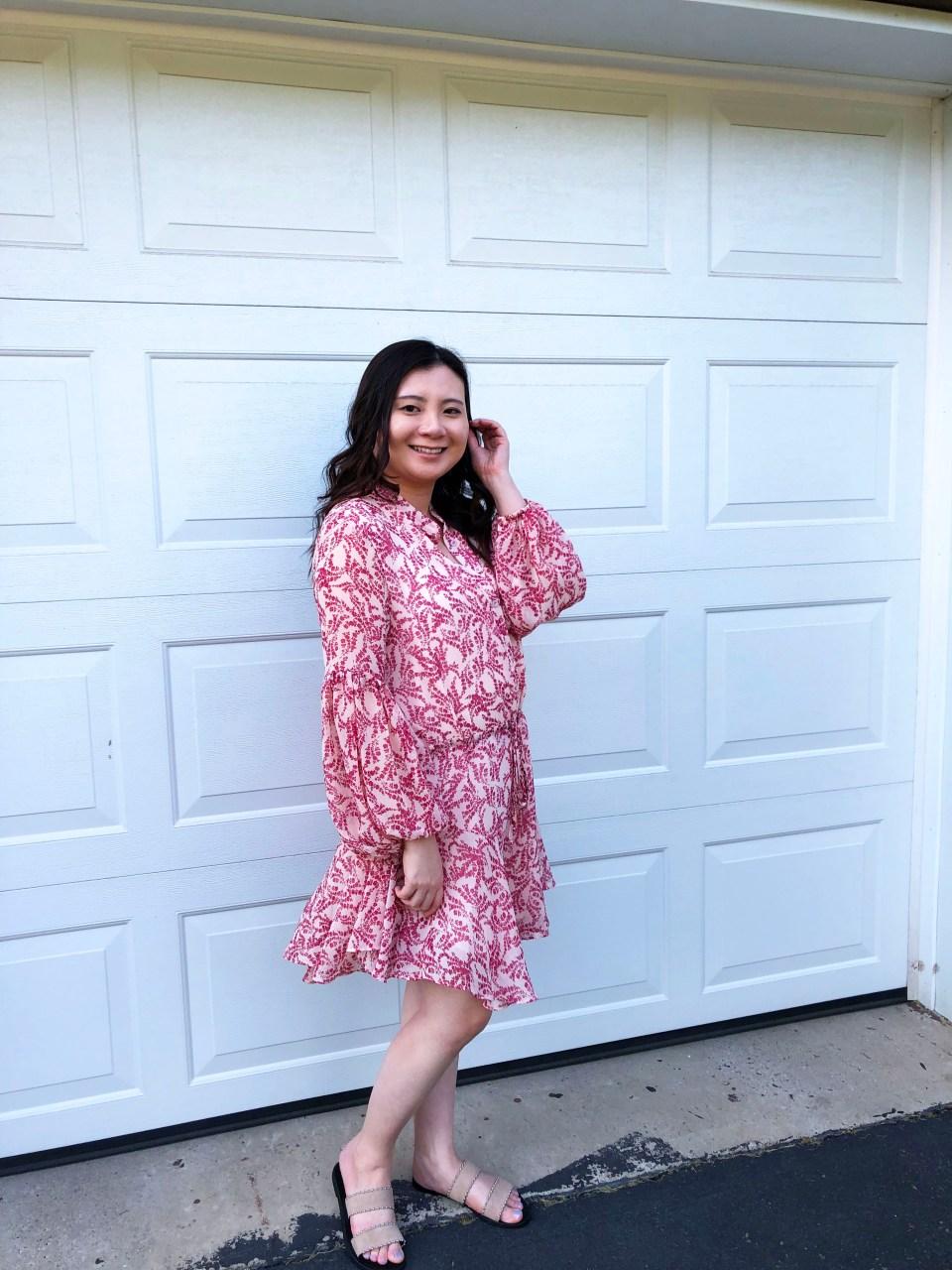 Grapevine Balloon Sleeve Dress 1