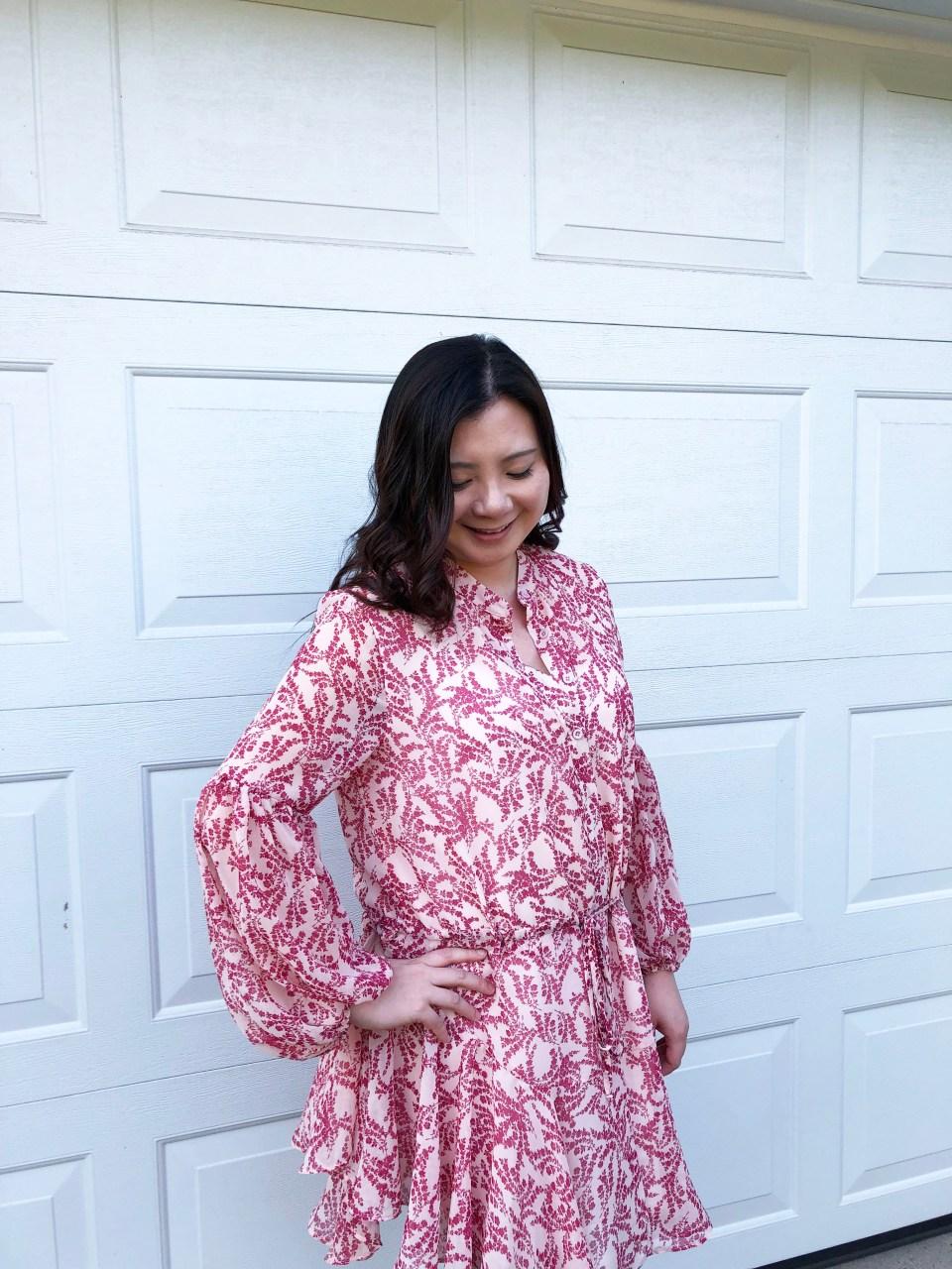 Grapevine Balloon Sleeve Dress 6