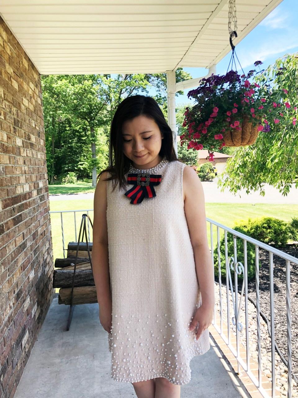Pearl Embellished Shift Dress 16