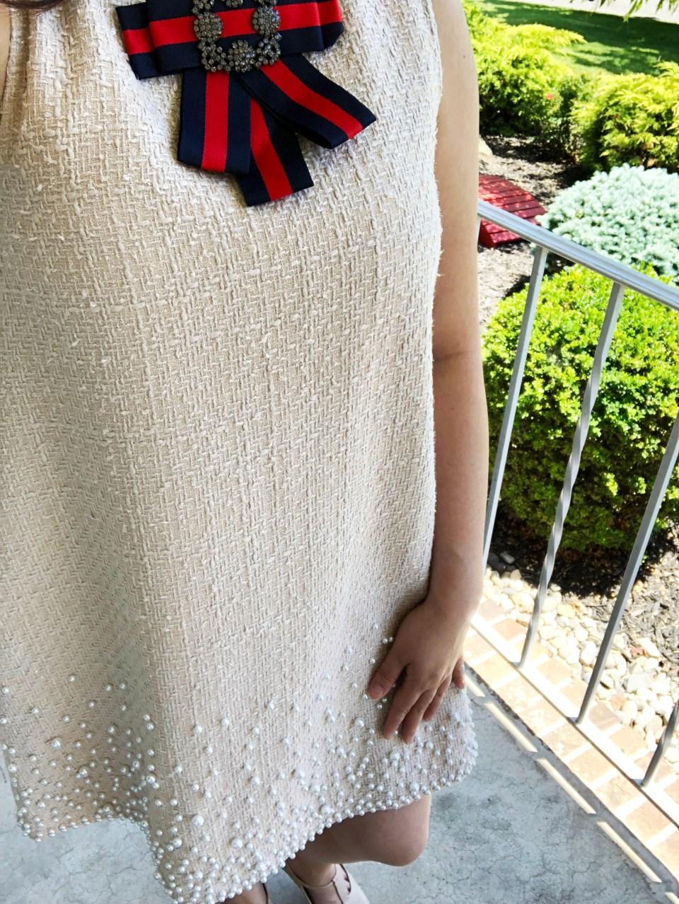 Pearl Embellished Shift Dress 20