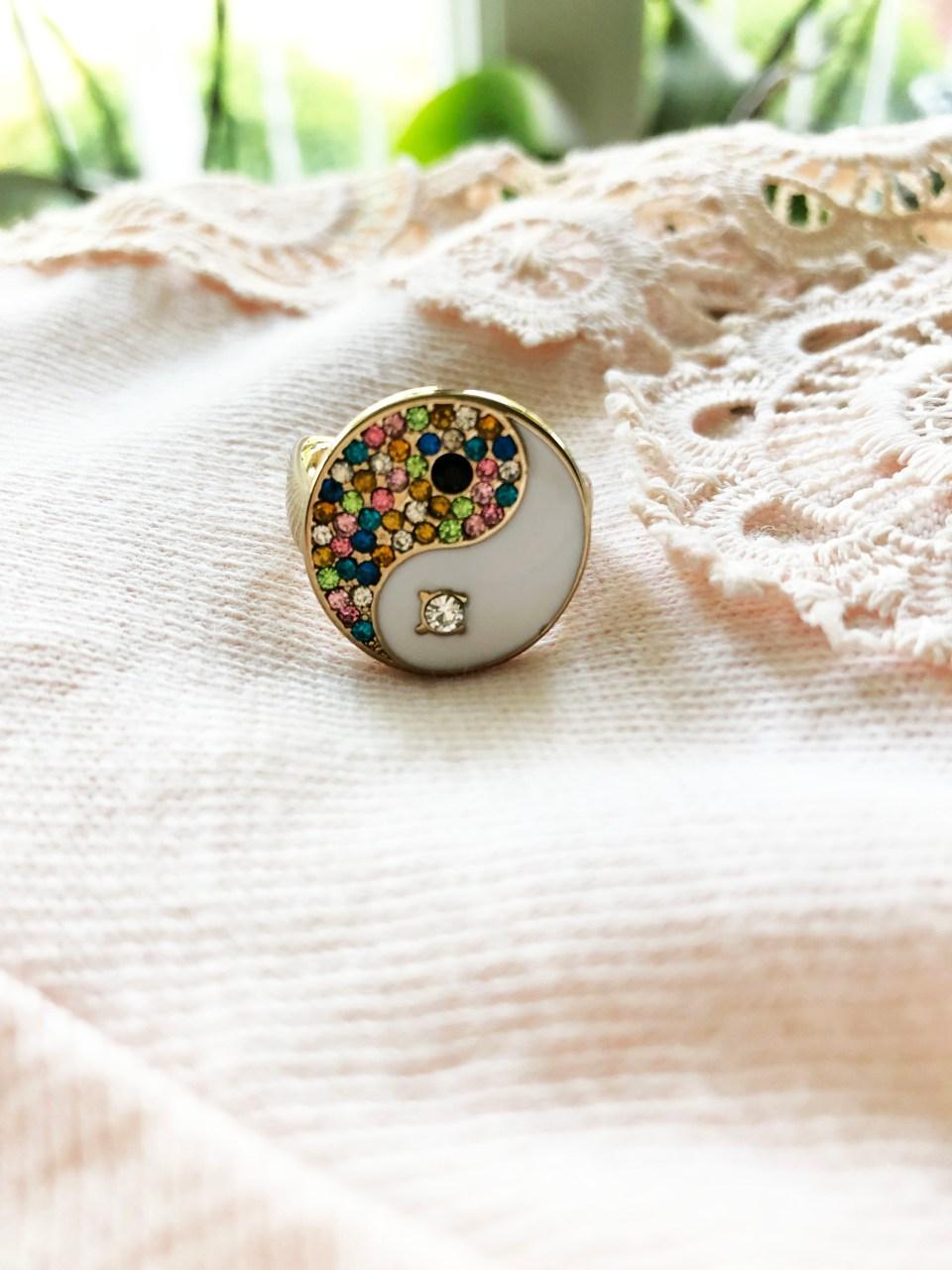 Yin & Yang Statement Ring