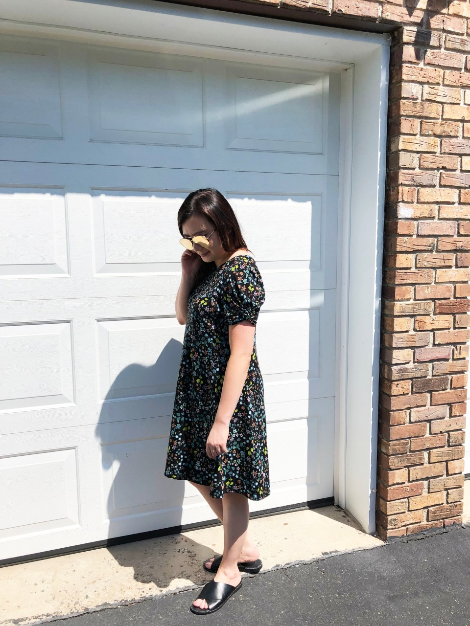 Floral Puff Sleeve Dress 2