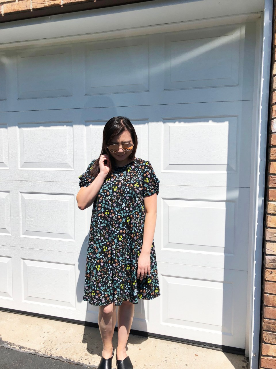 Floral Puff Sleeve Dress 5