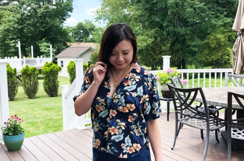 Navy Blue Floral Getaway Shirt