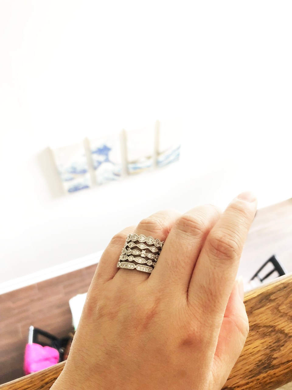 PalmBeach Jewelry - Eternity Ring Stack 7