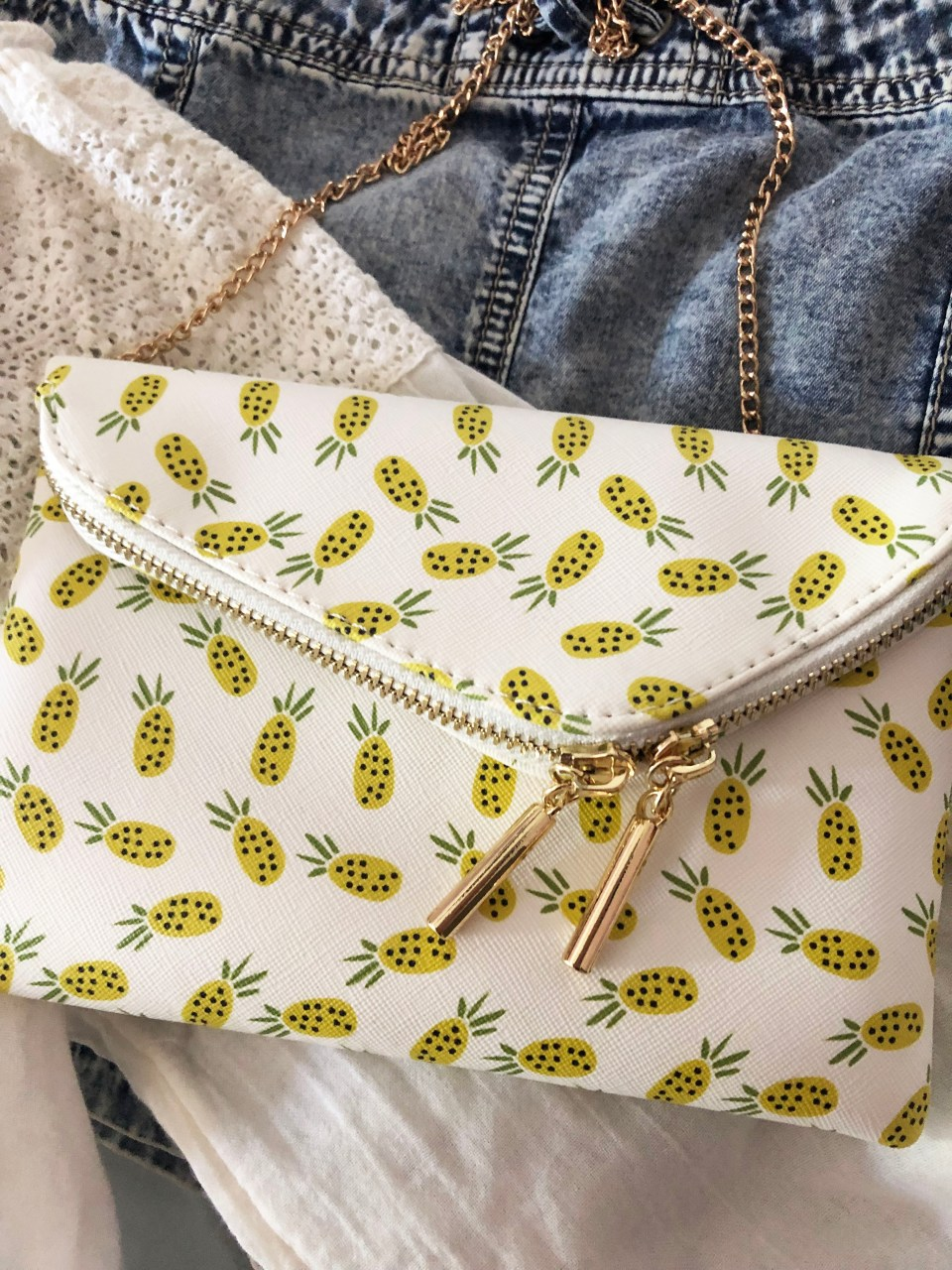 Pineapple Foldover Purse 1