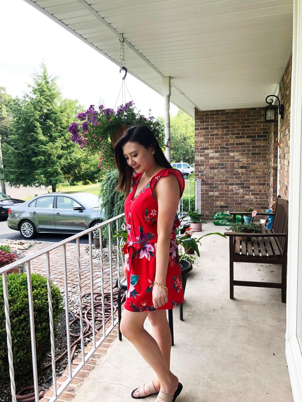 Red Floral Romper 2