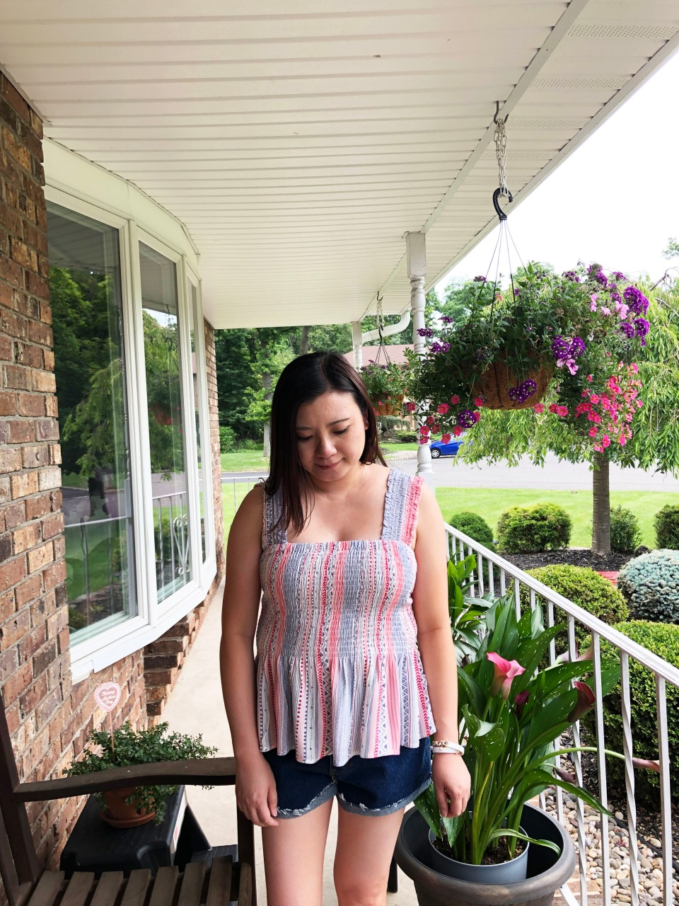 Red White & Blue Smocked Top 13