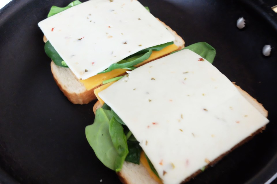 Grilled Spinach & Cheese Sandwich 2