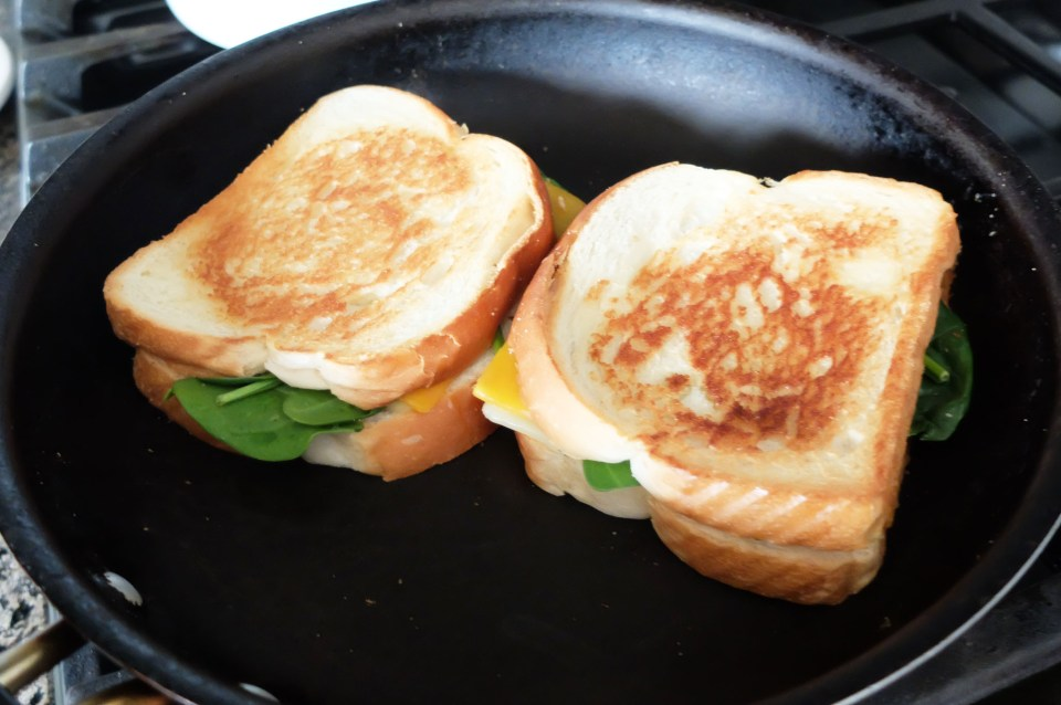 Grilled Spinach & Cheese Sandwich 5