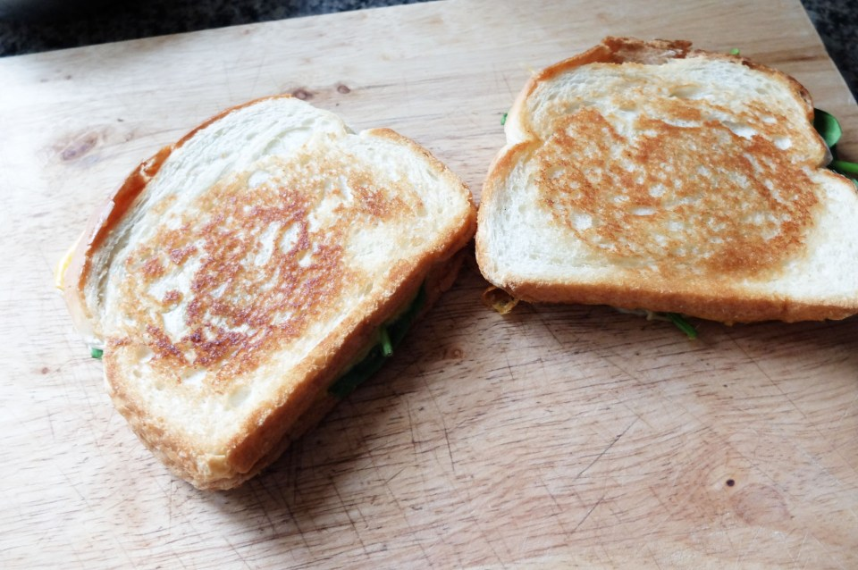 Grilled Spinach & Cheese Sandwich 6