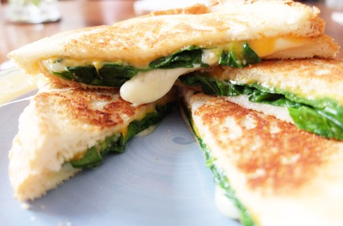 Grilled Spinach & Cheese Sandwich