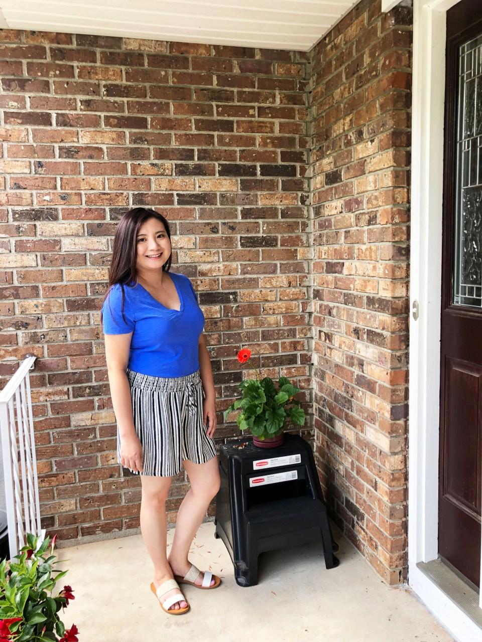Gauze Striped Shorts 10