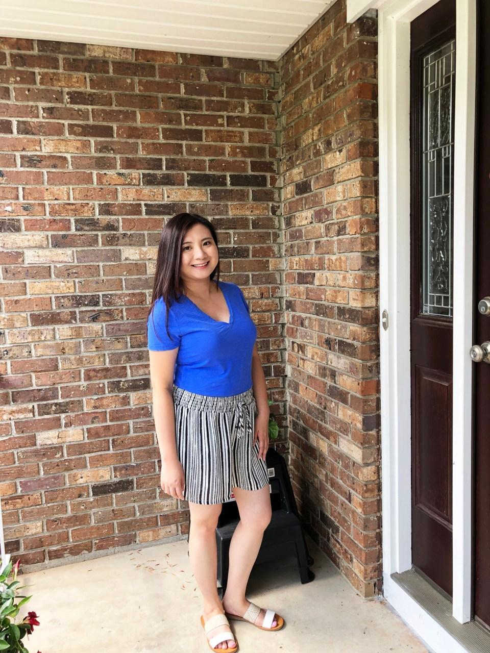 Gauze Striped Shorts 11