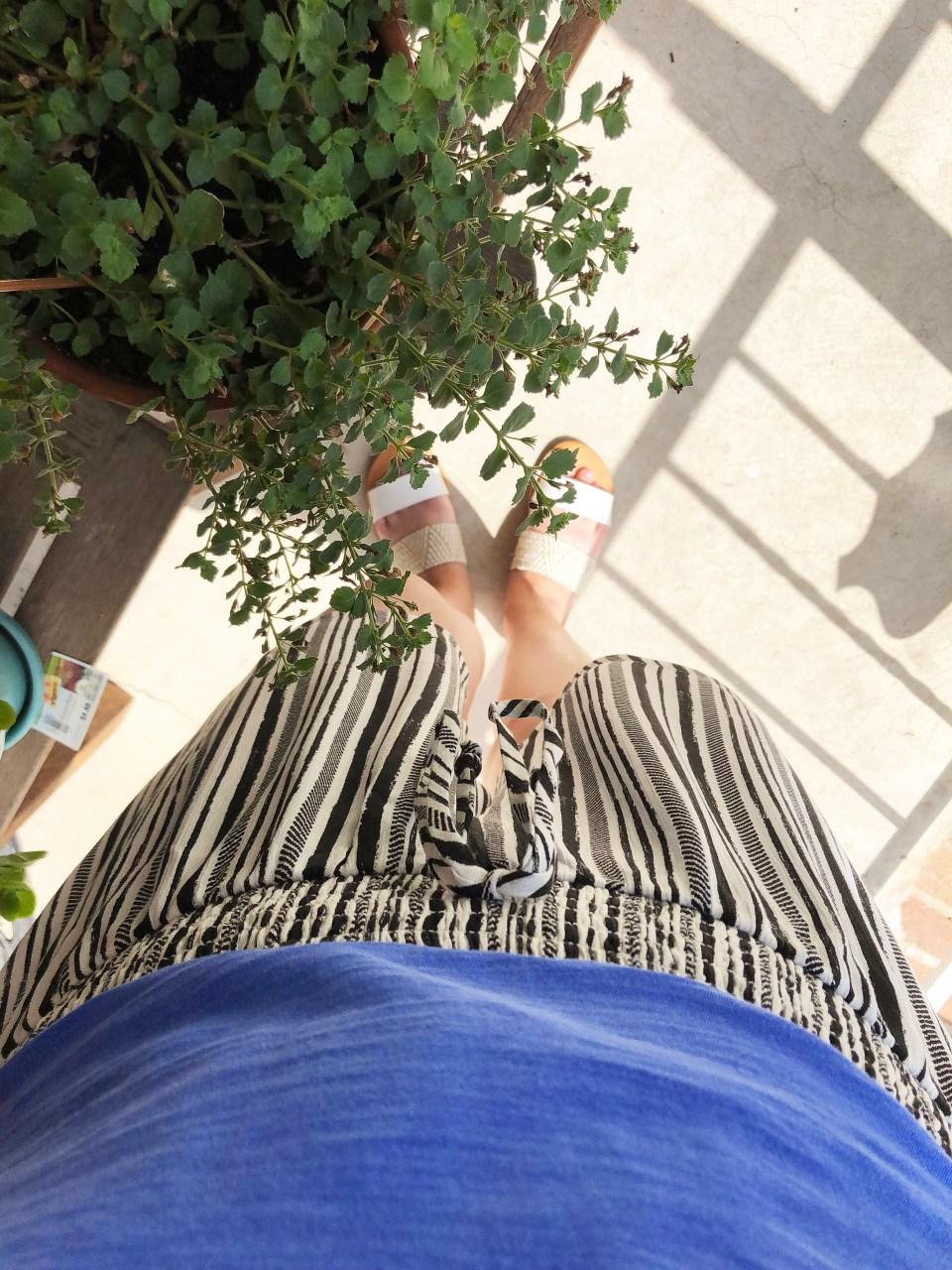 Gauze Striped Shorts 13