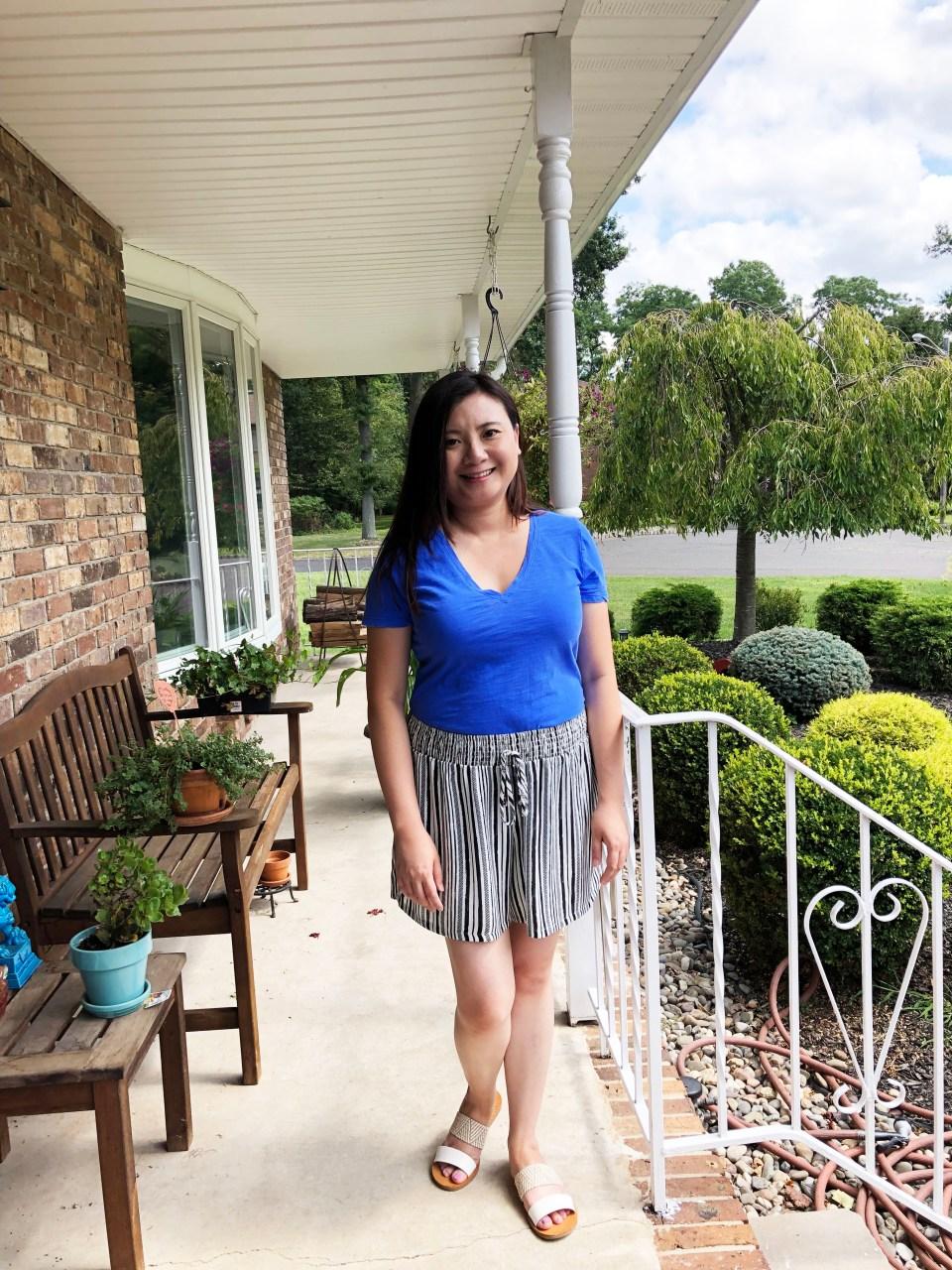 Gauze Striped Shorts 7