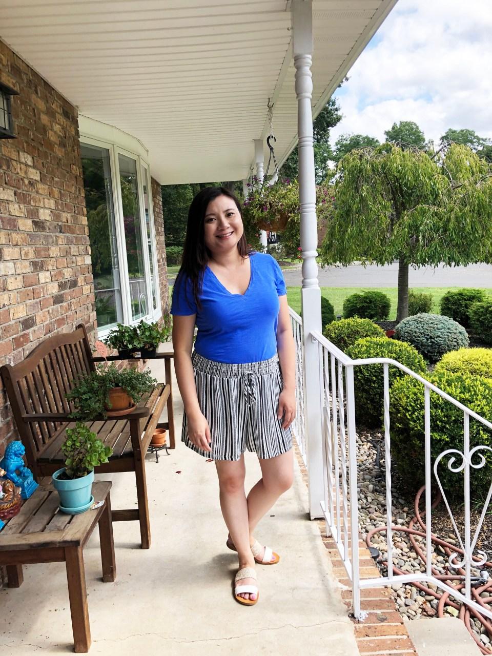 Gauze Striped Shorts 9