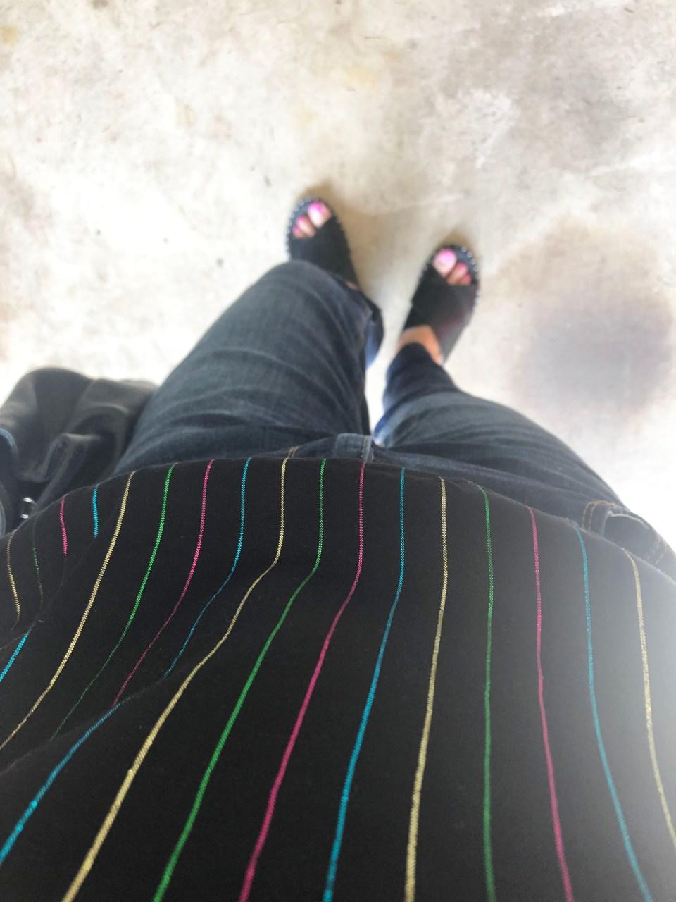 Metallic Stripe Puff Sleeve Top 13