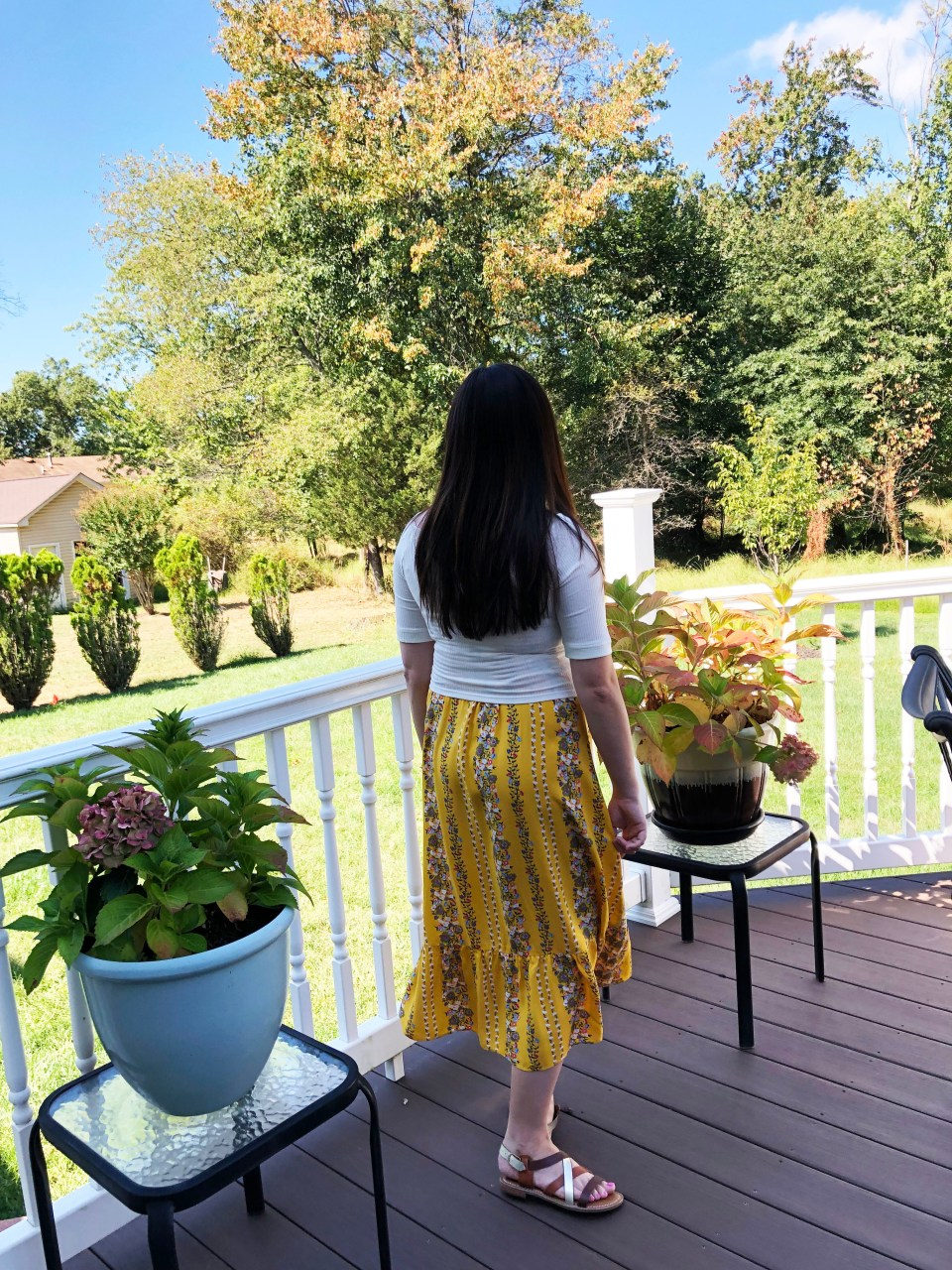 Yellow Floral Midi + Crop Top 4