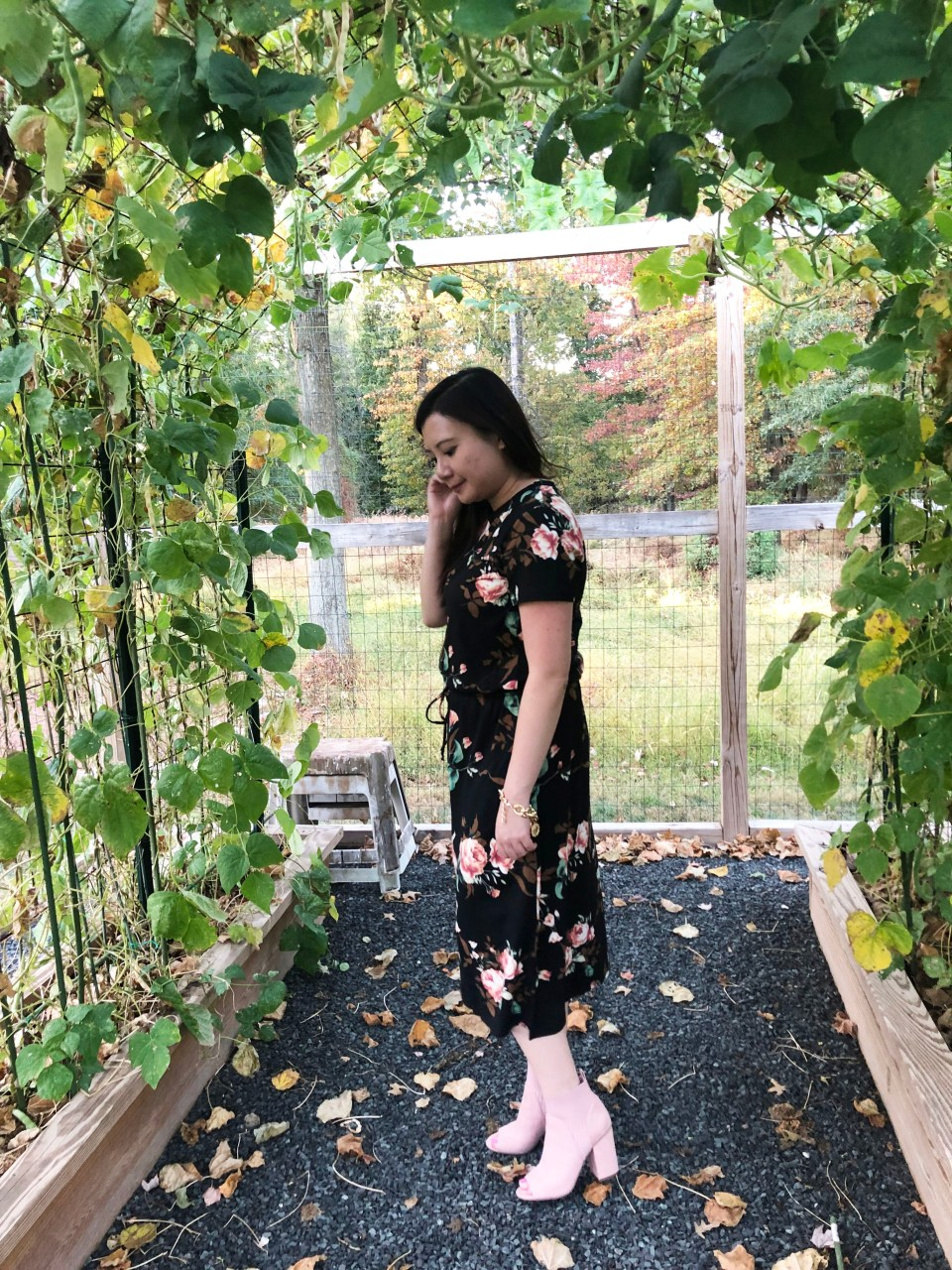 Large Floral Midi Dress 2