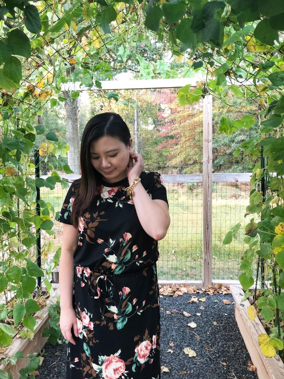 Large Floral Midi Dress 7