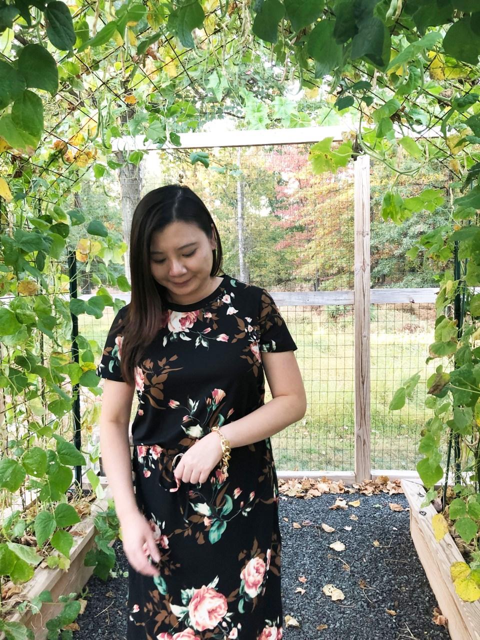 Large Floral Midi Dress 8
