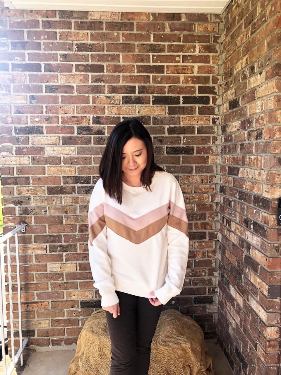 Chevron Colorblock Sweatshirt 13