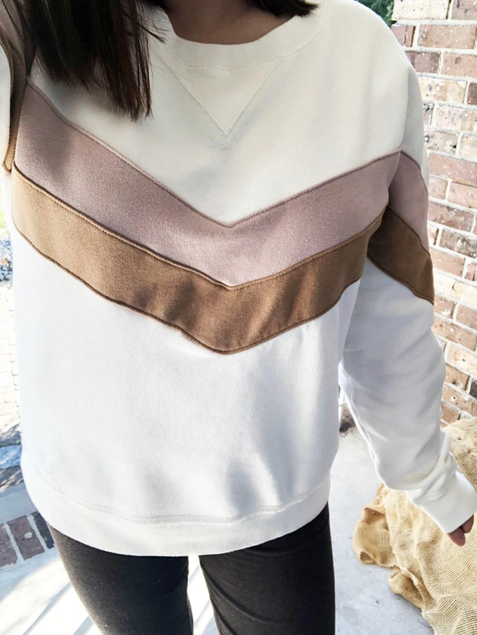 Chevron Colorblock Sweatshirt 18