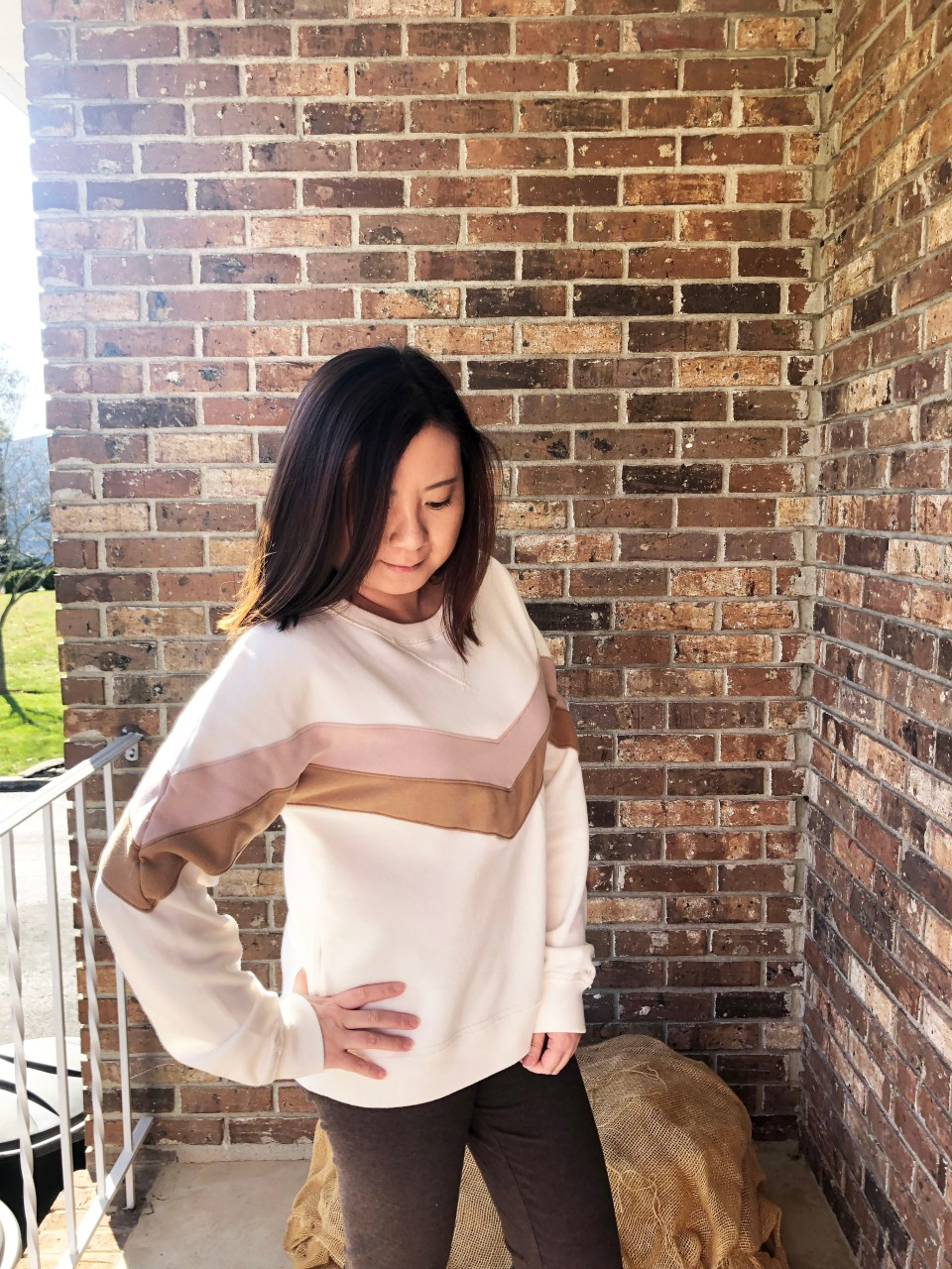 Chevron Colorblock Sweatshirt 3