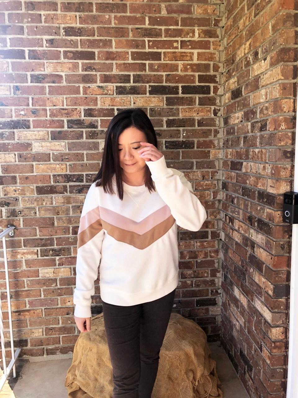 Chevron Colorblock Sweatshirt 6