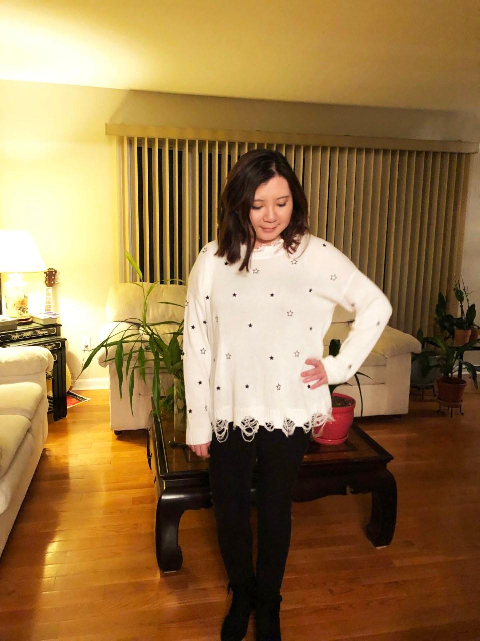 Distressed Star Sweater 1