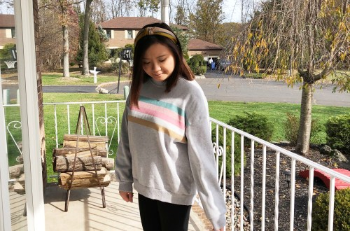 Pastel Striped Sweatshirt