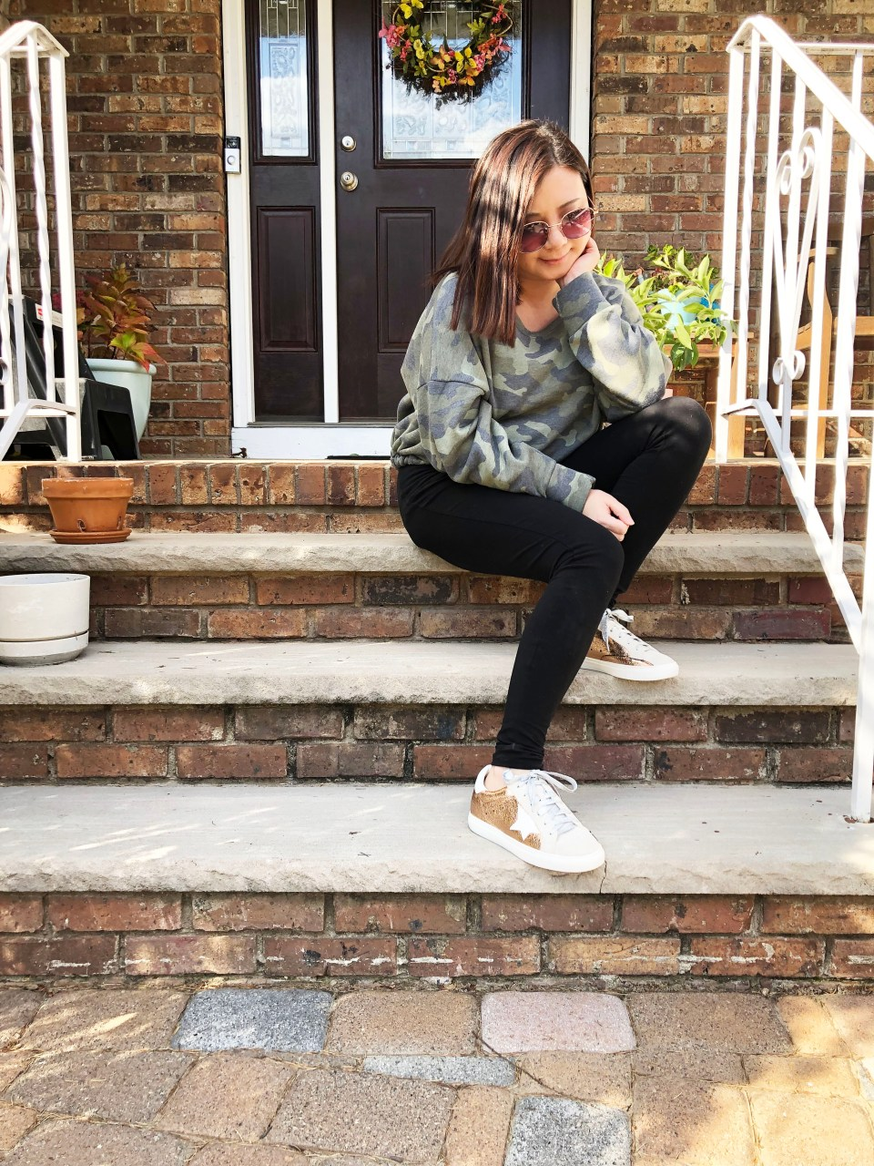 Rose Gold Star Sneakers 13